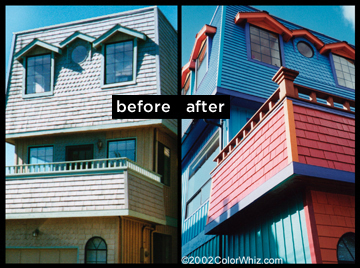 Dramatic difference between before and after pictures of house