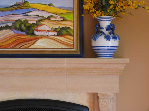 Interior paint color with fireplace
