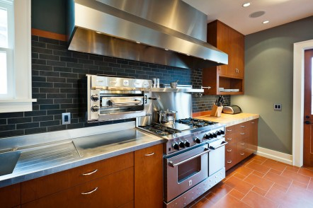 Wallingford modern kitchen in classic home, east end