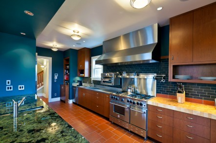 Wallingford modern kitchen in classic home, west end