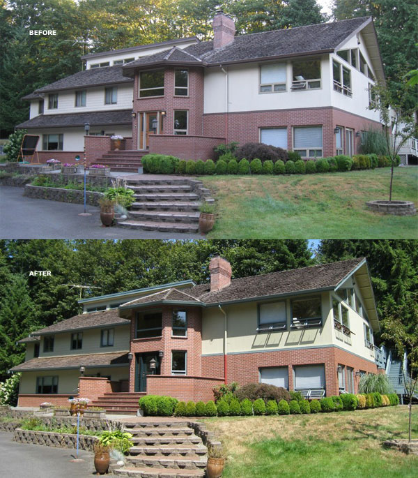 Before and After of Sammamish paint colors