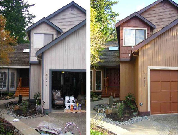 exterior paint color consultation shows before and after