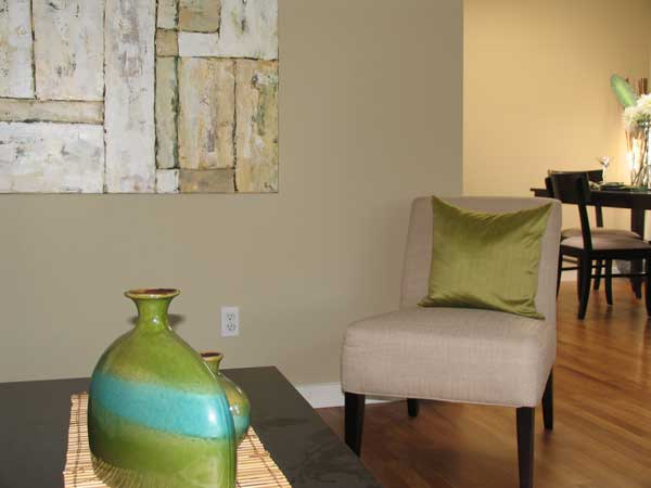 Modern interior paint color in dining and living room