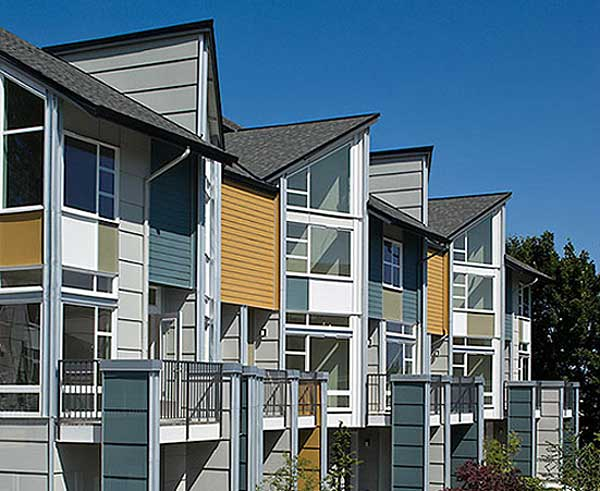 Exterior paint color on multi-family housing