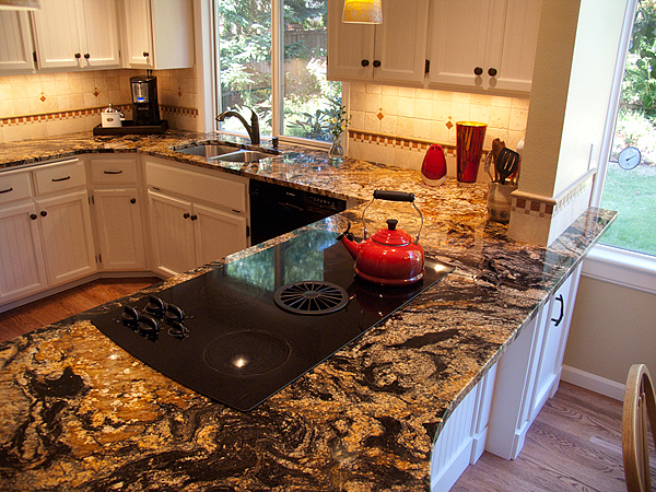 Remodeled kitchen and tile design